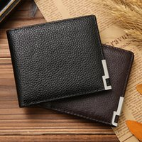 Wholesale New Vintage Leather Mens Wallets Fine Bifold Black Coffee Leather Wallet Credit Card Cool Trifold Wallet For Men