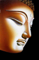 Wholesale Portrait of BUDDHA Pure Handpainted Portrait Art Oil Painting On High Quality Canvas In Any Custom Size