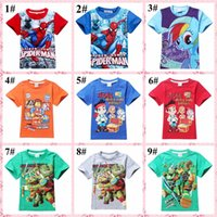 big jake - 119 styles summer children T shirt kids cartoon top tees boy girl clothing princess big hero jake spiderman cars phineas and ferb STAR WARS