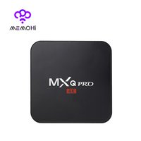 Wholesale 10PCS MEMOBOX MXQ PRO Android TV Box Amlogic S905 bits Quad Core UHD K K HDMI Smart TV Box KODI XBMC DLNA ADD ONS Pre installed
