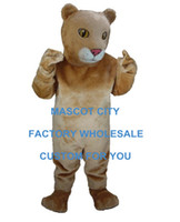 baby lion costume - Lion Cub Mascot Mascot Costume Adult Size Animal Cub Lion Baby Carnival Party Cosply Mascotte Fit Suit Kit EMS FREE SHIP SW1028