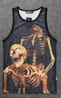 basketball jersey designs - Hip Hop Men Tank Top Fashion Sexy D Skull Print Design Pa Pa Pa Sport Sleeveless Gym Basketball Jersey Vest For Streetwear