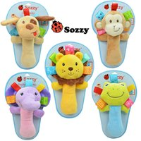 Wholesale Sozzy Baby Toy Babies Cartoon Animal Dolls Toys Boys Girls Plush Toys Varita Rattle Brinquedos CM Sozzy Handbell