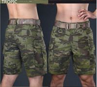 Wholesale Tactical Camouflage Shorts Men Summer Outdoor Hunting Camping Hiking shorts Casual Adjustable Camo Cargo Shorts Airsoft Paintball Field Game