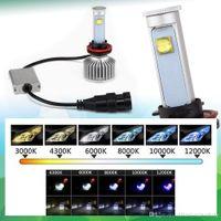 Wholesale DHL W X7 H7 H8 H9 H11 LED Light Headlight k Vehicle Car Hi Lo Beam Bulb Kit Cree Headlamp