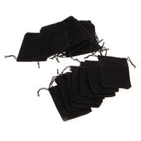 Wholesale 25PCS Black Velvet Drawstring Jewelry Wrapping Pouch Gift Bag Packaging X4Inch