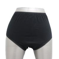 Wholesale Women Incontinence Briefs Adult Pants Nappies Pad Cotton Underwear Black XS XXL