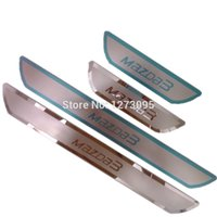 Wholesale 2014 Mazda Stainless Steel Scuff Plate Door Sill Ultrathin Threshold Strip Welcome Pedal Car Styling Pedals Accessories set