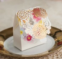 baby shower party supplies - Flower Wedding Candy Box Baby Shower Elegant Romantic Decoration Laser Cut Event Party Supplies Paper Favors And Gifts Bag