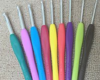 Wholesale 9pcs Sizes Multicolor Aluminum Metal Knitting Needles Crochet Hooks Set Tool Weave Craft cm mm set