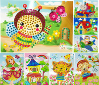 Wholesale Crystal Mosaic Sticker Kids Children Kindergarten Educational Arts and Crafts Toys Colors Assorted ZSH