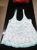 Wholesale Sample Sale Camisoles Rayon Spandex Butterfly Prints Turquoise Ruffles Binding Lace Backless Split For Women Adjustable Straps JIAOLUN
