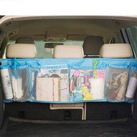 Wholesale 110 cm Car Trunk Organizer Seat Cover Oxford cloth Mesh Bags Toys DVD Container Bags Independent Mesh Bags
