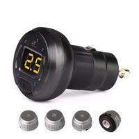 alarm sensor types - SPY Car Alarm Systems Security V Digital Display Car TPMS With Sensors Tyre Pressure Monitor System Cigarette Lighter Type