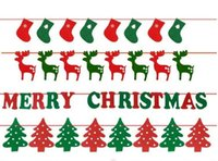 Wholesale New Christmas decorations Garland felt Christmas stockings hanging flag letters flag a mer drop shipping Can be customized and adding logo