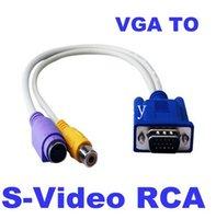 av cable adaptor - 15 Pin Sub D VGA SVGA to RCA S Video S Video Cable Adapter Converter VGA To AV HDMI VGA Video adaptor HDTV Monitor TV