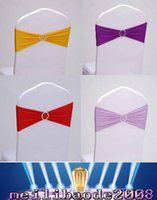Wholesale price spandex chair band with heart shaped plastic buckle lycra band for wedding decoration chair sash for cover chair MYY