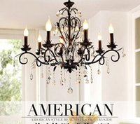 american rest - American chandelier crystal candle lights Nordic country restoring ancient ways ikea contracted sitting room lamp wrought iron bedroom rest