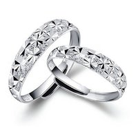 Wholesale 2016 Silver Rings Couple Rings Sterling Silver Jewelry Ring Opening Starry Silver Rings Ms Ring Male