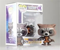big head shop - Donnatoyfirm Free Shopping New Guardians of the Galaxy Funko Pop Marvel cm Rocket Raccoon Action Figure Bobble Head Classic Toys