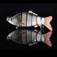 Wholesale Super Quality cm g Lifelike Jointed Sections Swimbait Fishing Lure Crankbait Hard Bait Fish Treble Hook Fishing Tackle