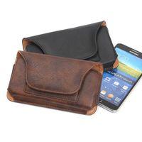 Multi-función de la tarjeta de la cartera de las ranuras de cinturón universal clip bolsa de cuero bolsa para el iPhone 6 más S7 S7 Edge teléfono móvil