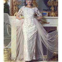 Wholesale 2016 Elegant Appliqued Lace Half Sleeve A Line Ankle Length Sheath Vestidos Wedding Dresses Vestido De Novia
