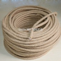 Others antique electrical cord - m mm antique fabric braided electrical wire Vintage pendant light cord knitted DIY lights accessories
