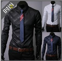 Cheap 3 colors 2016 silk shiny mens shirts long cool shirts for men mens dress shirts designer