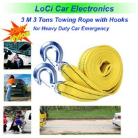 Wholesale M Tons Towing Rope Tow Cable Tow Strap High Strength Nylon heavy with Hooks for Heavy Duty Car Emergency Tool