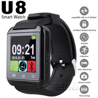 Wholesale Bluetooth U8 Smartwatch Wrist Watches With Altimeter For iPhone Samsung S6 Note HTC Android Phone In Gift Box