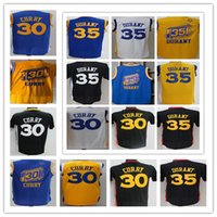 Wholesale 2016 New Arrival Golden State Kevin Durant Stephen Curry black Chinese white yellow blue jerseys Shirts Stitched Cheap Best