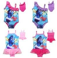 Wholesale Finding Nemo Dory One Piece Bikini Summer New Baby Swimsuit Kids Finding Dory Swimwear Bathing Suits Finding Nemo Bikini D629