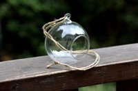 Wholesale Hanging Clear Glass Bauble Sphere Ball Candle Tea Light Holder Plant Terrarium cm in diameter Perfect for Garden Outdoor Weddin