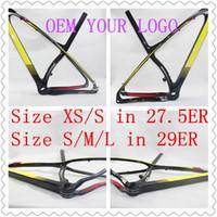 Wholesale Full Carbon Fiber MTB bike frame T800 With Original L00K Brand Logo Model Size XXSM XS S M L in ER ER