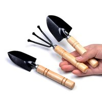 Wholesale New Mini Plant Garden Gardening Tools Set With Wooden Handle Tool Rake Shovel