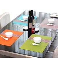 Wholesale 4Pcs Placemat pvc dining table mat disc pads bowl pad coasters waterproof table cloth pad slip resistant pad