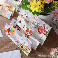 Wholesale Seventy percent off Christmas card sold in Europe and America gleamy Gold Christmas gift message stereo cards