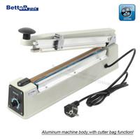 bag sealer cutter - PFS Aluminum body Hand Impulse Sealer PP PE film bag sealer with cutter function mm sealing width V Hz
