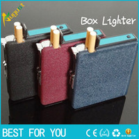 automatic cigarette case - Hot Sale New automatic cigarette case with wind proof Butane lighters stainless stelel lighter