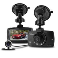 Dual Lens Car DVR 2.7Inch 1080P G30B Grabadora de vídeo de 140 grados Cámara Tramo Cam IR Night Vision