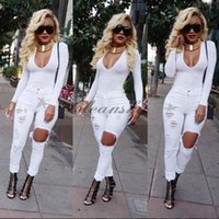 Wholesale 2 Colors New Hot Fashion Ladies Long Pants Stretch Women Bleach Ripped Alexa Skinny Jeans Casual Hole Jeans For Female M127