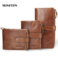 Wholesale Genuine Leather Women Men Wallets European and American Style Leather Wallet Womens Wallets and Purses Card Holder
