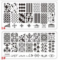 Wholesale Nail Stamping Plates For Nail Art styles Templates New Arrival digital design Plant Nail Manicure Steel Stamp Stencil Stamper Tools
