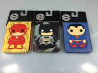 batman designer - Spiderman Superman Batman Leather PVC Anime Wallet New Arrival Designer Purse for Kids Credit Card Holder Cartoon Wallets