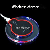 base receiver - Wireless charger emitter with transparent base and charging receiver for samsung cell phone charger with retail packaging