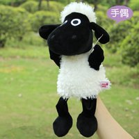 Wholesale Candice guo cute cartoon plush toy sheep Nici stereo sweet lamb doll hand puppet baby appease toy bedtime telling story pc