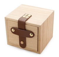 Wholesale Watch Box Solid wood Zakka Primary colors wooden box Top Quality Square Jewelry Set Storage Box Wood Colors Avaliable