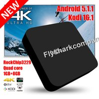 Wholesale Satellite Receiver Boxes - MXQ-4k Smart Ott TV Box RK3229 Quad Core Android Satellite Receiver WiFi HDMI Kodi 16.1 4K H.265 Media Player vs Amlogic S805 MXQ