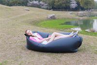 Wholesale Easy Quick Infaltable Hangout Sleeping Bag Sofa Bed Air Quick Open Lazy Sleep Bag Bed Hangout Sleeping Camping Outdoor Sofa